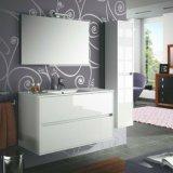 Salle de bains meubles en bois suspendue 70 miroir mobile lavabo en porcelaine de lampe de conception
