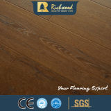 12,3mm E0 AC3 de madera de nogal en relieve de cantos encerado suelo laminado