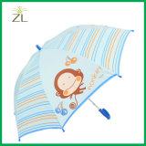 マンガのキャラクタのまっすぐで安い子供の傘35cmが付いている昇進の防水ファブリック