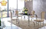 ステンレス鋼のFlanneletteファブリックカバーヨーロッパ式の食事の椅子の現代ホテルの椅子