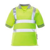 De weerspiegelende T-shirt van de Veiligheid van het Zicht van de Strook Hoge van het Katoen van 100%