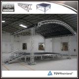 Armature d'aluminium de voûte d'armature de toit incurvée par armature de toit d'étape extérieure