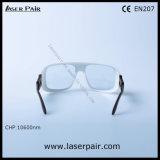 glaces de sécurité de lasers du CO2 10600nm et lunetterie de protection de laser avec Frame36 réglable