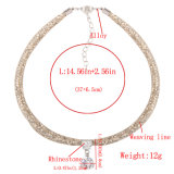 方法マルチ層ロープ編みこみのデザイナーダイヤモンドの水晶チョークバルブのネックレスの宝石類