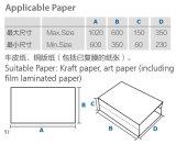 Máquinas de impresión offset bolsa de papel que hace la máquina Zb1100A