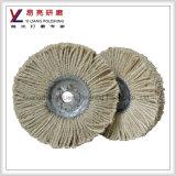 Roda do cobre do aço inoxidável do metal e a de alumínio de moedura de superfície