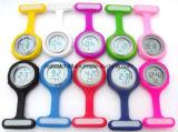 Regalo Pocket dell'orologio della data di calendario di Fob della vigilanza dell'infermiera del silicone dei reticoli di fiore della zebra per i medici ospedalieri che nutriscono Timepiece