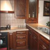 Alto armadio da cucina lucido industriale bianco moderno di legno solido
