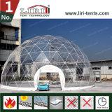 Tienda inflable de la bóveda del PVC de las tiendas transparentes opacas al aire libre de la bóveda geodésica