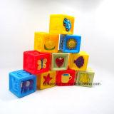 Educatibnal colorido plástico obstrui brinquedos do edifício