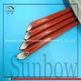 Mangueira de fibra de vidro revestida de silicone de alta temperatura de 6mm vermelho