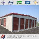 Estructura de edificio ligera de almacenaje del marco de acero