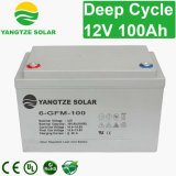 manutenção gratuita AGM Ciclo profundo pilha seca Solar 12V 100 Ah