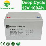 Батарея 12V 100ah сухого элемента свободно цикла AGM обслуживания глубокого солнечная