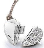 Excitador instantâneo Pemdrive do USB do presente de casamento do dispositivo da jóia