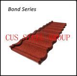 Tipi schiavi di mattonelle di tetto rivestite del metallo della sabbia/di comitati d'acciaio del tetto del chip della pietra colore di terracotta