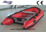 アルミニウム床(FWS-A230)が付いている膨脹可能なボート
