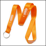 Business Silk Screen Printing Logo Nylon Lanyard com clip de metal
