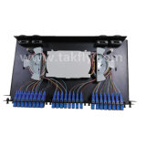 El panel de corrección óptico de fibra de 48 accesos ODF montado estante óptico