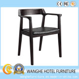 Самомоднейший чисто черный деревянный трактир обедая стул кофеего стула