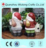 Figurines Santa Claus смолаы напольного украшения рождества стоящие