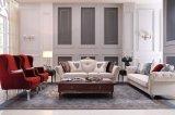 Sala de estar móveis sofá de tecido com estrutura de madeira, coloque o S1703
