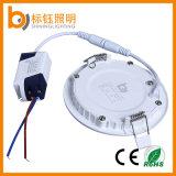 Lâmpada 6W Home magro interna leve redonda da iluminação de painel do diodo emissor de luz da fábrica