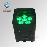 Luz con pilas para el partido del acontecimiento, luz de la IGUALDAD de la radio LED de Rasha WiFi APP DMX512 6*15W 5in1 Rgbaw del disco de la etapa