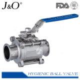 válvula de esfera sanitária da braçadeira 3PCS com selo Encapsulated