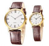 Water Resistant Japan Movement Couple Relógios