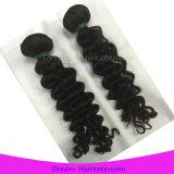Сделанные машиной волосы Remy утков сплести, Unprocessed индийские человеческие волосы девственницы