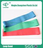Faixa para a faixa do estiramento da ioga do exercício da aptidão com logotipo da impressão