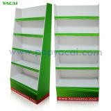 Étalage d'étage de carton avec le présentoir ondulé de quatre plateaux