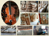 Preço grossista Violino Eléctrico Sólido de cor branca 4/4 violino