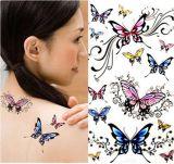 Etiqueta engomada temporal impermeable colorida del tatuaje del modelo de mariposa