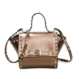 Le messager d'épaule de sac de main de cuir véritable de femmes met en sac le sac de Crossbody