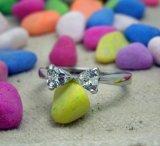 Zircon обручального кольца женщин плакировкой платины яркий
