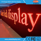 Waterproof P10 Outdoor Single Red Message Publicité LED Text Display