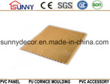 Панели потолка PVC печатание деревянные водоустойчивые придают огнестойкость декоративной панели стены Cielo Raso De PVC