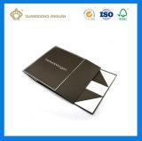 De la alta calidad empaquetado plegable del rectángulo de la cartulina rígida magnética negra del encierro por completo (plano pila de discos)