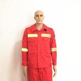Resistente al fuego de poliéster transpirable ropa de trabajo con cinta reflectora