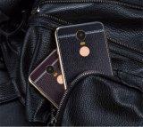 Горячие продавая аргументы за Xiaomi задней стороны обложки кожи с сохранённым природным лицом Litchi продуктов