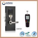 Bloqueo Keyless electrónico de la maneta de puerta del hotel de la mortaja del acero inoxidable de Orbita 304