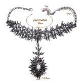 نمو رفاهيّة زاهية يشبع [رهينستون] بلّوريّة ماس بيان خانق عقد مجوهرات