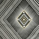 80% 20% Nylon Spandex folha de ouro tecido de impressão para a linha do biquíni