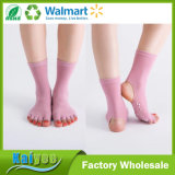 Pink больше носок Soled женщин носка йоги резиновый