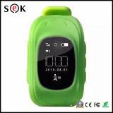2016 precio de fábrica del monitor androide caliente del perseguidor del GPS inteligente niños del reloj del GPS vía satélite Q50 Sos inteligente reloj teléfono para Niños