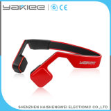 Auriculares estereofónicos sem fio vermelhos de Bluetooth da condução de osso da forma
