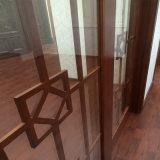 フレンチドア(GSP3-011)を滑らせる優雅な木製ガラス