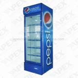 飲料LG550fの直立したショーケースのためのガラス単一のドアの表示クーラー